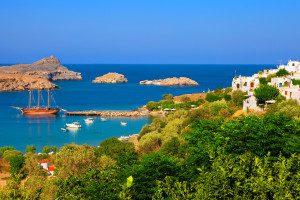 Griechenland Lindos Bay Rhodos