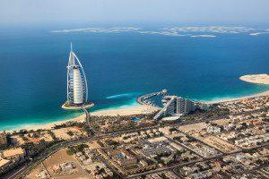 Badeferien Dubai, Luftaufnahme des Burj al Arab