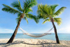 Badeferien Karibik Strand Hängematte