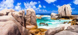 La Digue_Anse Marron_Seychellen_Traumbucht mit Grantifelsen_Badeferien